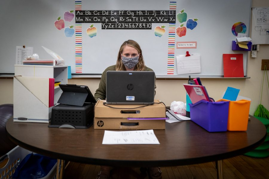In-Person Students Adjust to Hybrid